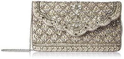 Accessorize London Eve Bags-Handbag Women's Clutch (Silver)