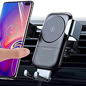 andobil Wireless Car Charger Mount, Auto Clamping 10W Qi Fast Charging Air  Vent Car Phone Holder Compatible with Samsung Galaxy S10/ S10+/S9/S9+/S8+