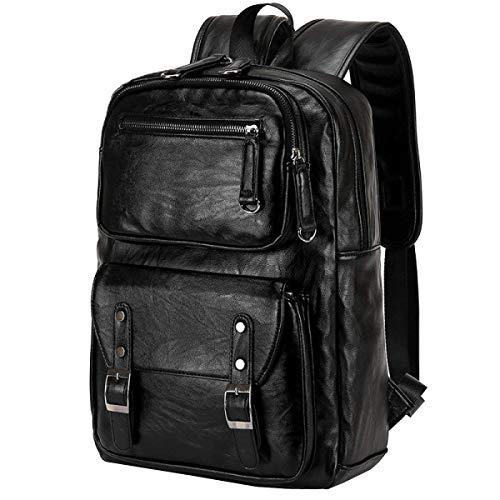 Willsego zaino in pelle da uomo college wind doppio zaino da uomo e da donna borsa da viaggio borsa computer bag, nero-one size (colore : nero, dimensione : taglia unica)