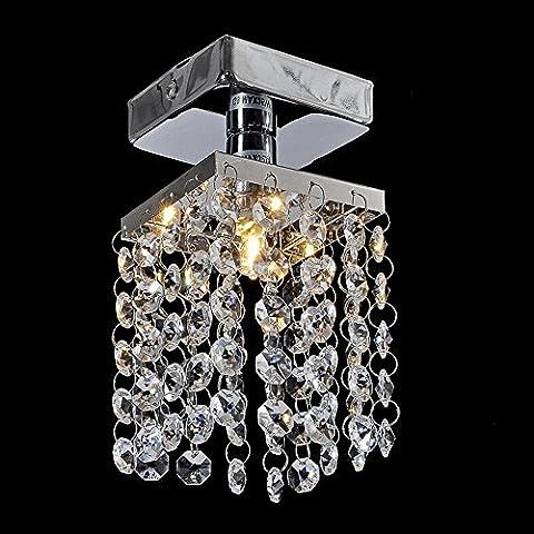 LYXG Semplice piccoli cristalli lampada illumina il corridoio lampada da soffitto luci (80*125mm) con balcone
