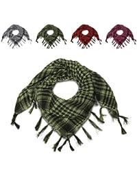 ManoaShark® Pali Tuch Arafat Halstuch Schal Fransen Loop Karo Kariert Emo Checkered Rot Schwarz Grün Pink