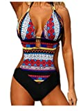 Ecollection Womens One Piece Cut Out Swimwear Swimsuit XXL Red