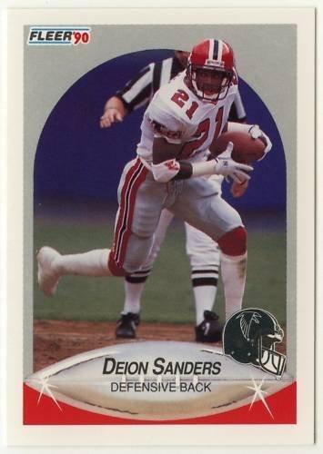Deion Sanders 1990Fußball Fleer Trading Karte # 382-Rookie Saison-Atlanta Falcons von Fleer (Atlanta Falcons Football Karten)
