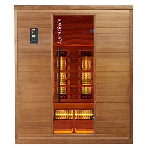 BP Infra 4 Health I-170 Infrarotkabine Sauna mit Zedernholz für 4 Personen