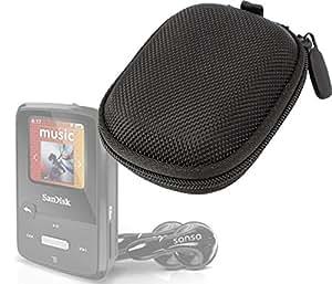 DURAGADGET Etui housse rigide de protection en EVA Étui de rangement pour SanDisk Clip Zip 4 Go Lecteur MP3 avec Radio FM