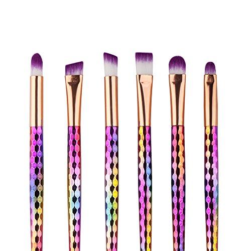 Fami 6pcs coloré cosmétique sourcil pinceau maquillage maquillage