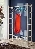 Garderobe faltbar Buche Massivholz Kleiderständer Kleiderstange klappbar