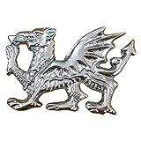 Schottische Glengarry Kappe Abzeichen Lion Rampant, Welsh Dragon, Hirschkopf, keltische Harfe, Freimaurer, Distel Crest Silver Finish, Balmoral Hut
