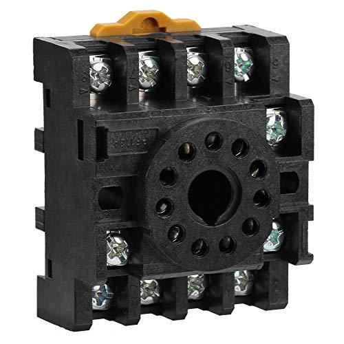 Aufee Base de Relais, PF113A Prise de Base de Relais d'alimentation à 11 Broches pour JQX-10F Module d'alimentation JTX-2C Time Relais Base de Relais