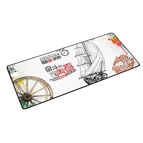 Haofengjing Mauspad Chinesische Verdickungsspiel-Tastaturtabellenmatte Der Großen Größe Des Spielkarten-Mauspad-Verschlussrandes, 600Mm300Mm2Mm