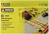 Noch 14624 - Bahnbauten: Laser-Cut minis Bahnübergang Holzbohlen, 3 x 4.4 cm