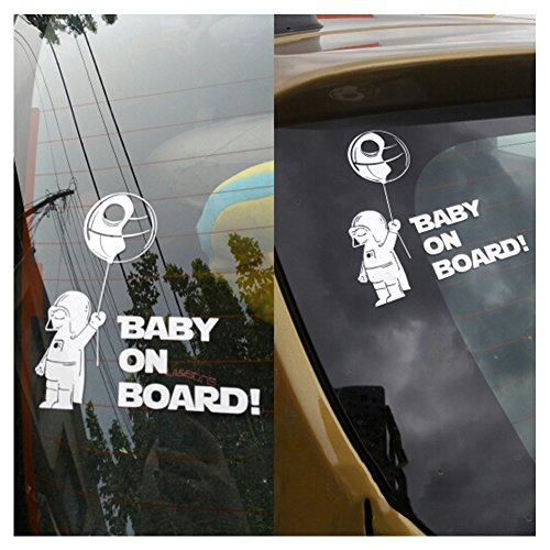Baby On Board Darth Vader Star Wars Car Decal Window Truck Vinyl Sticker Decor Set of 2