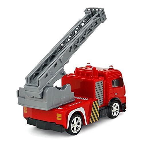 RC Auto kaufen Feuerwehr Bild 5: Brigamo Mini RC Feuerwehrauto mit Blaulicht, Ferngesteuertes Auto im Deko Feuerlöscher, Feuerwehr Leiterwagen, ideales Geschenk für Feuerwehr Fans (40 Mhz)*