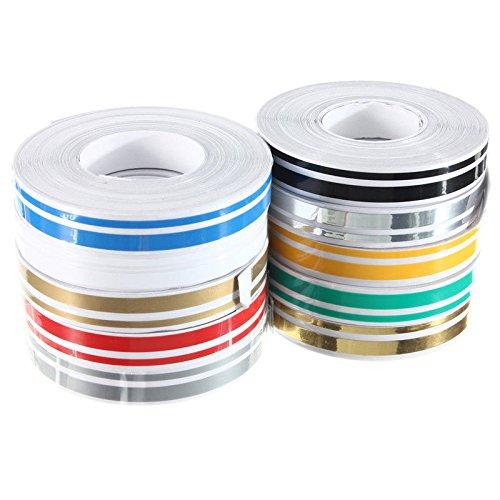 ACAMPTAR 1 Rolle 12 Mm X 9,8 M Doppel Pin Striping Streifen Abs Tape Aufkleber Aufkleber Auto 1/2 Zoll (Auto-striping-tape)