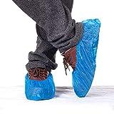 ZZHF 50 Pares/Protectores de Zapatos y Protectores, Suela Antideslizante Gruesa Resistente a líquidos, sin frustración, Desechables (Paquete de 100) Pulidor de Zapatos