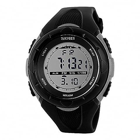 TTLIFE 1025 Unisex Multi-Funktions-Digital-LED-Quarz-Uhr-Wasser-beständige elektronische Sport-Uhren - Automatico Blu Mens Watch