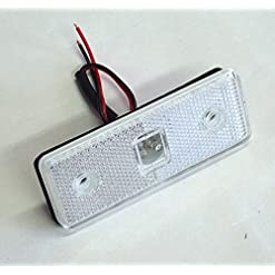 1 x BIANCO/12 V-LUCE ANTERIORE LED TRAILER TRUCK, CAMION CAMPER VAN-BUS