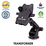 #5: Tech Sense Lab (Australia) –Transformer Car Mobile Phone Holder/Mount, Universal Mobile Stand with one touch mounting & 360 degree rotating head for Dashboard/Windshield,Upgraded 2018 model for all Smartphone's –iphone,Samsung,Android etc ((Black))