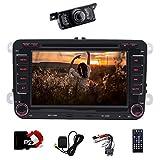 17,8cm double DIN auto Bluetooth stereo con lettore DVD autoradio navigatore satellitare con free card da 8GB per VW Polo Jetta Passat CC Tiguan Caddy + Canbus sostegno Swc, subwoofer, AUX, cam-in USB, SD (WinCE 6.0)