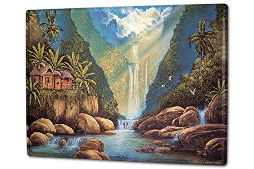 Cartel-Letrero-de-Chapa-XXL-Pared-Aventurero-G-Huber-Hawaii