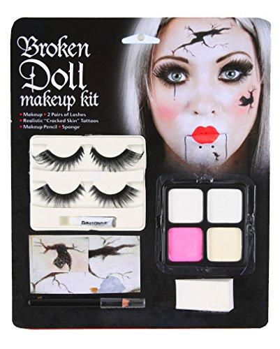 Broken Doll Make-up 11-teilig (Halloween Puppe Make Up)