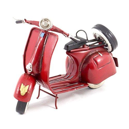 modele-reduit-metal-vintage-scooter-vespa-rouge