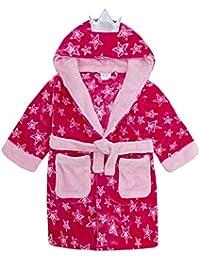 Schwänzchen und Kapuze in Pink 2 bis 10 Jahre Kinder Bademantel mit Hasenohren
