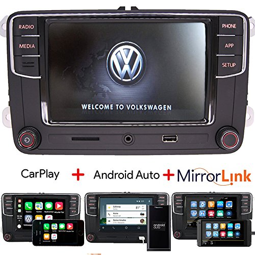 Car Audio Radio Autoradio RCD330 build-in Carplay+Android Auto+MirrorLink+Bluetooth,OPS,USB,AUX,RVC for VW GOLF PASSAT TIGUAN TOURAN POLO EOS - Kit Touchscreen Radio Car