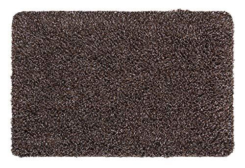 andiamo Schmutzfangmatte Sauberlaufmatte Fußmatte - Indoor/Outdoor Matte - waschbar, in 4 Farben erhältlich, Farbe:Braun, Größe:50 x 80 cm