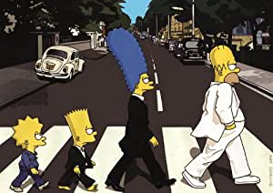 Simpsons Abbey Road Poster - Beatles Abbey Road Cover - Beatles Poster - Simpsons Poster - Abbey Road Poster - The Beatles Abbey Road Cover - The Simpsons - 85cm x 60cm Poster