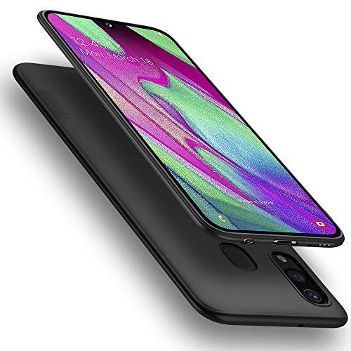 X-level für Samsung Galaxy A40 Hülle, [Guardian Serie] Soft Flex Silikon Premium TPU Echtes Telefongefühl Handyhülle Schutzhülle Kompatibel mit Galaxy A40 Case Cover - Schwarz