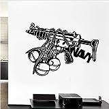 Wandaufkleber Aufkleber Boy Waffe Dekoration Wandkunst Dekor Papier Wandbild für Wohnzimmer Schlafzimmer 42x67cm