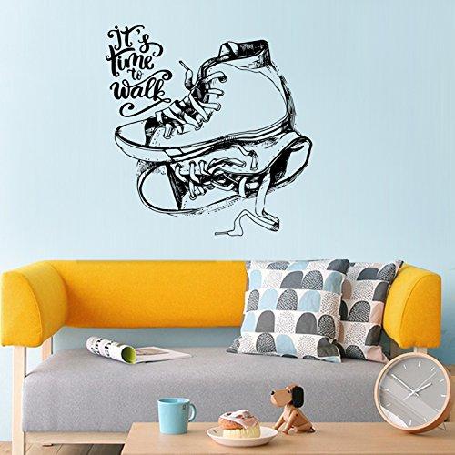 2 stücke, pvc wasserdichte schuhe kreative persönlichkeit aufkleber, wohnzimmer campus schlafzimmer abnehmbare aufkleber -