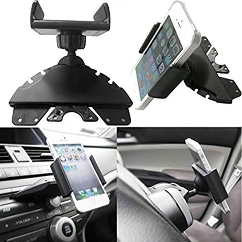 Universal 360 ° Voiture fente CD support, Byste téléphone portable GPS SAT NAV Tasses support Cradle support Protection