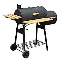 Outsunny Charcoal BBQ Barbecue Grill Outdoor Smoker