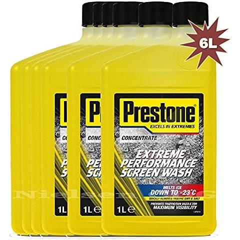 Prestone-Liquido works-Paravento Screenwasher ai-23 °C-PRE 1-6, SW 1 x 6 l, 6 l - 1 De Icer
