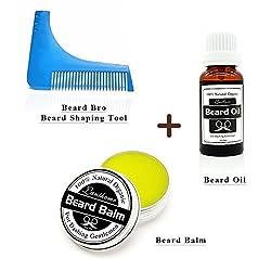 organ oilic Natural Beard Oil & beard care wax balm Beard Conditioner Leave in Styling Moisturizing Effect+With Beard Shaping Comb