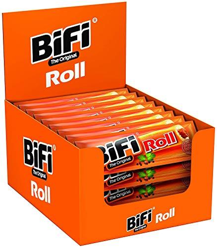 BiFi Roll - Herzhafter, original Salami Fleischsnack - Snack im Teigmantel - 24er Pack (24 x 50 g)