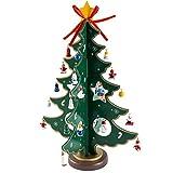 Weihanchten Deko Weihnachtsbaum Tannenbaum mit Anhänger Weihnachtsbaumschmuck DIY Tisch Deko (Grün)