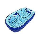 LINAG Baby Aufblasbare Badewanne Kinderbadewanne Kinder Pool Wanne Tragbar Rutschsicheren Sicherheit Pflegesets Faltbar
