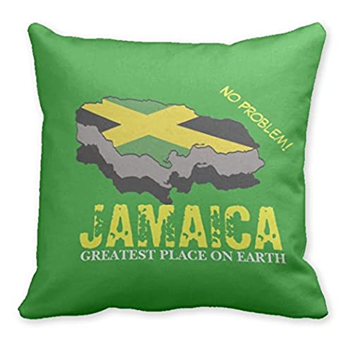 Il vous suffit de Journalisation Vert coloré Jamaica Taie d'oreiller Housse de coussin décoratif Couvre-lit Taie d'oreiller