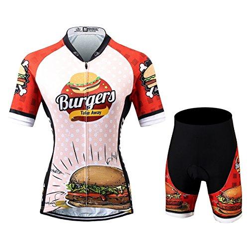 Thriller Rider Sports® Damen Burgers Sport & Freizeit MTB Fahrradbekleidung Radtrikot und Kurze Hose Anzüge X-Large