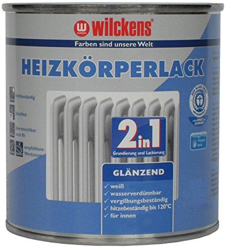 2-in-1 Heizkörperlack weiss inkl. Pinsel von E-Com24 zum Auftragen und 1 Paar Nitrilhandschuhe (2 in 1 375 ml)