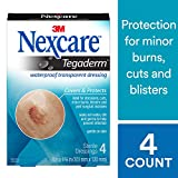 Nexcare Tegaderm Waterproof Transparent Dressing, Comfortable, Stretchy, Wear Up to 7 Days, 4-Inches X 4-3/4-Inches, 4 Count