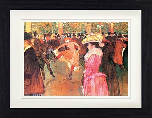 1art1 113674 Henri De Toulouse-Lautrec - Tanz Im Moulin Rouge, 1890 Gerahmtes Poster Für Fans Und...