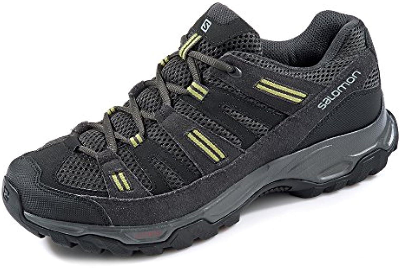 Salomon - Zapatillas de senderismo de Piel para hombre, color negro, talla 11.5
