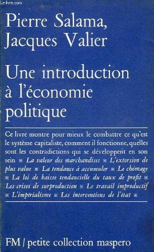 Une introduction à l'économie politique par Pierre Salama