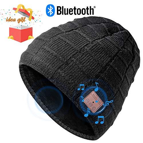 Bluetooth Mütze Beanie, Männer Geschenke, Dual-Layer Strickmütze, Bluetooth Hut, Musik Mütze mit Bluetooth 5.0, fit für Outdoor-Sport, Weihnachten Geburtstag Erntedankfest als Geschenke, Waschbar
