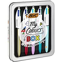Bic My 4 Colours Box - Metal Tin of 5