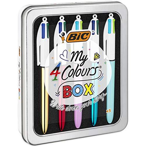 BIC 967279 my 4 Colours Box - Kugelschreiber, 5er-Set